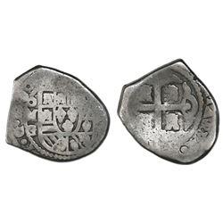 Mexico City, Mexico, cob 4 reales, 1730G.