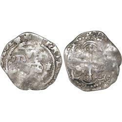 Mexico City, Mexico, cob 1/2 real, 1614/3/2F, rare.