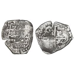 "Lima, Peru, cob 2 reales, 1659V, ""Star of Lima"" type, mintmark L-*-M (Series 2), quadrants of cross"