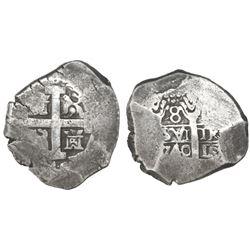 Lima, Peru, cob 8 reales, 1740(V).