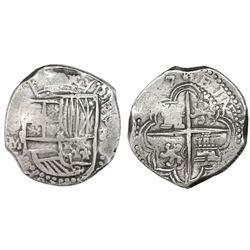 Potosi, Bolivia, cob 8 reales, (161)7M.