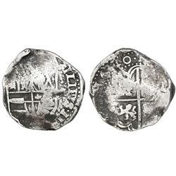 Potosi, Bolivia, cob 8 reales, 1640, assayer not visible, rare.