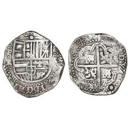 Potosi, Bolivia, cob 8 reales, (1)643TR, rare.