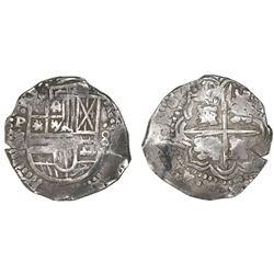 Potosi, Bolivia, cob 8 reales, 164(7?)Z/?, rare.