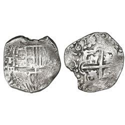 Potosi, Bolivia, cob 2 reales, 1626P, very rare.