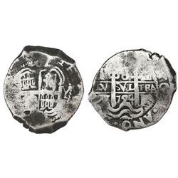 Potosi, Bolivia, cob 8 reales, 1724Y, rare.