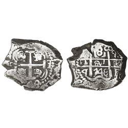 Potosi, Bolivia, cob 8 reales, 1748q.