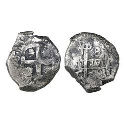 Potosi, Bolivia, cob 8 reales, 1753C/q.