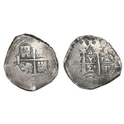 Potosi, Bolivia, cob 4 reales, 1659(E).