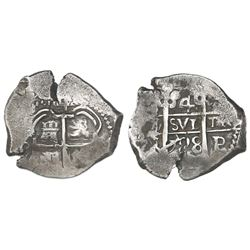 Potosi, Bolivia, cob 4 reales, 1728M.