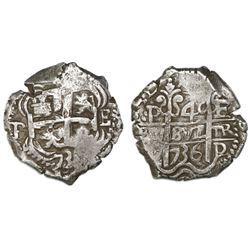 Potosi, Bolivia, cob 4 reales, 1736E.