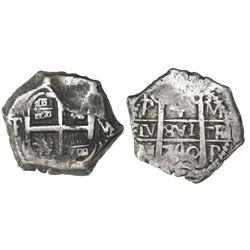 Potosi, Bolivia, cob 4 reales, 1740M.