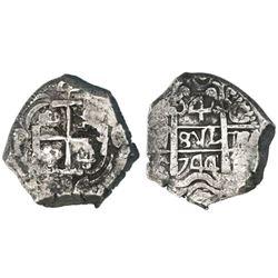 Potosi, Bolivia, cob 4 reales, 1744C.