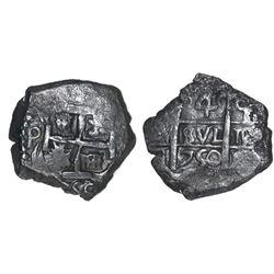 Potosi, Bolivia, cob 4 reales, 1750q.