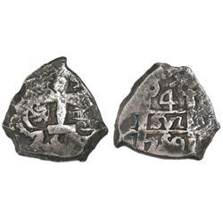 Potosi, Bolivia, cob 4 reales, 1759q.