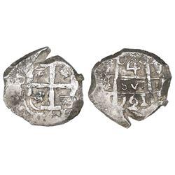 Potosi, Bolivia, cob 4 reales, 1761V-(Y).