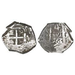 Potosi, Bolivia, cob 4 reales, 1763V-(Y).