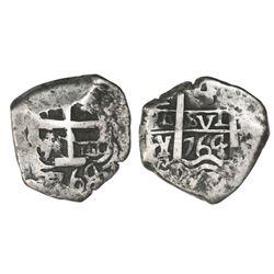 Potosi, Bolivia, cob 4 reales, 1764(V)-Y.