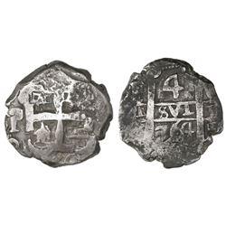Potosi, Bolivia, cob 4 reales, 1764V-(Y).