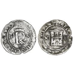Santo Domingo, Dominican Republic, enriched billon (silver/copper) 11 maravedis, Charles-Joanna