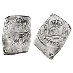 Guatemala, cob 8 reales, 1751J.