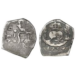Guatemala, cob 2 reales, 1750J.
