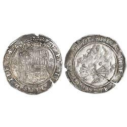 Seville, Spain, 4 reales, Ferdinand-Isabel, no assayer, mintmark oSo to left, assayer * in center of