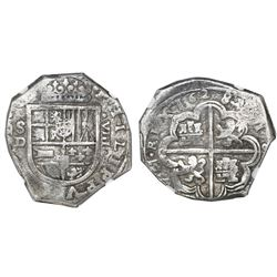 Seville, Spain, cob 8 reales, 1628D, NGC VF 30.
