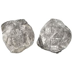 Seville, Spain, cob 8 reales, (16)37R, rare, ex-Asian hoard.