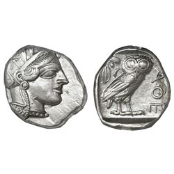 "Attica, Athens, AR tetradrachm, ""owl,"" 440-404 BC, NGC Choice XF, strike 4/5 surface 4/5."