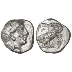 "Attica, Athens, AR tetradrachm, 400-353 BC, ""owl."""