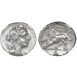 Gaul, Massalia, AR drachm or tetrobol, 2nd-1st centuries BC, NGC Choice AU, strike 5/5 surface 3/5.