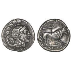 Lucania, Velia, AR nomos or stater or didrachm, ca. 300-280 BC.