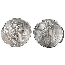 "Kings of Macedon, AR tetradrachm, Alexander III (""the Great""), 336-323 BC, early posthumous issue, S"