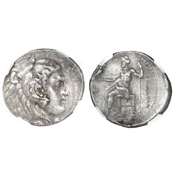 "Kings of Macedon, AR tetradrachm, Alexander III (""the Great""), 336-323 BC, early posthumous issue, S"