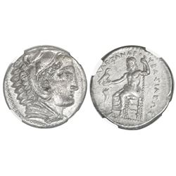 Kings of Macedon, AR tetradrachm, Alexander III ( the Great ), 336-323 BC, early posthumous issue, A