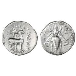 "Phoenicia, Arados, AR drachm, 172/1-111/0 BC, dated CY 91 (169/8 BC), ""bee."""