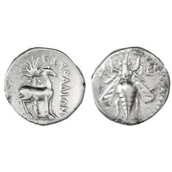 "Phoenicia, Arados, AR drachm, 172/1-111/0 BC, dated CY 91 (169/8 BC), ""bee."""