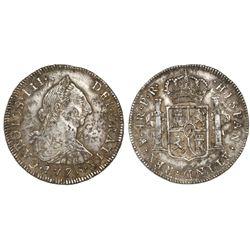 Potosi, Bolivia, bust 4 reales, Charles III, 1776PR.