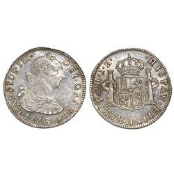 Potosi, Bolivia, bust 2 reales, Charles III, 1776JR.