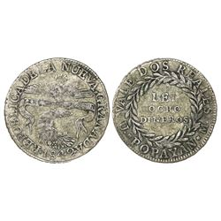 Popayan, Colombia, 2 reales, 1842UM.