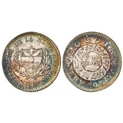 Bogota, Colombia, 2 reales, 1848, PCGS MS63, finest known in PCGS census.