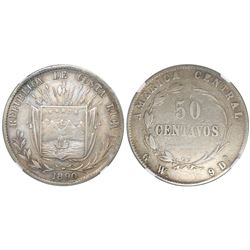 Costa Rica, 50 centavos, 1890GW, NGC VF 35, ex-Richard Stuart (stated on label).