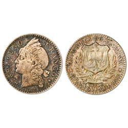Dominican Republic (struck in Paris), 1 franco, 1891-A, NGC MS 64.