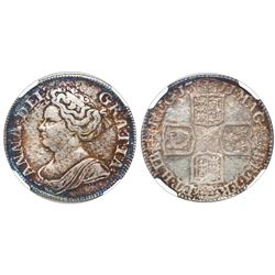 Great Britain (London, England), shilling, Anne, 1711, fourth bust, NGC AU 50.