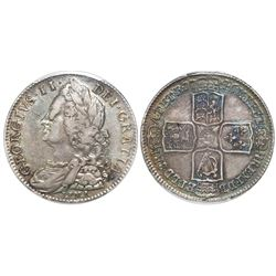 Great Britain (London, England), half crown, George II, 1746, with LIMA below bust, PCGS VF35.