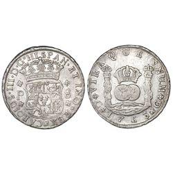 Guatemala, pillar 8 reales, Charles III, 1763P.