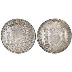 Guatemala, pillar 8 reales, Charles III, 1767P.