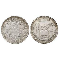 Guatemala, pillar 4 reales, Charles III, 1760P.