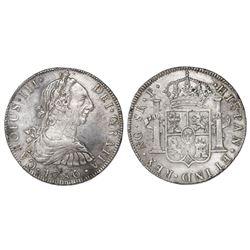 Guatemala, bust 8 reales, Charles III, 1780P.